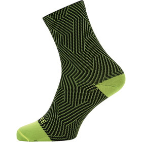 GORE WEAR C3 Optiline Middelhoge Sokken, neon yellow/black